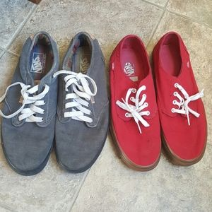 Men's Vans lot 2 pairs sneakers sz 12